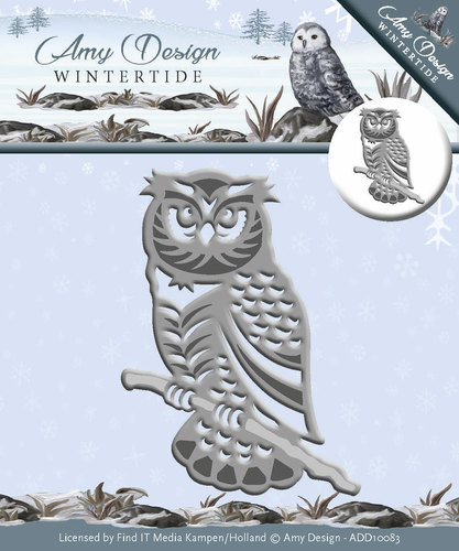 ADD10083 Die - Amy Design - Wintertide - Owl