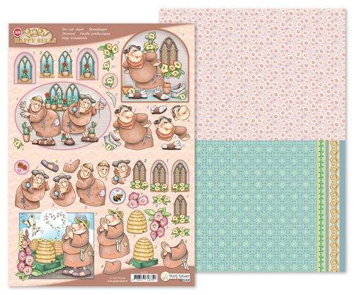 9.0070 MRJ 3D Die cut sheet Happy Bells + 1 potpourri sheet