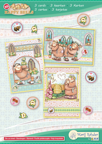 9.0092 MRJ set Happy Bells A5 Set for 3 complete cards