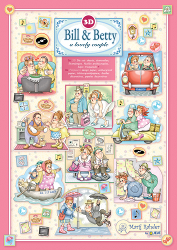 9.0106 MRJ set Bill &Betty 3x 3D Die cut A4 sheet + 3x Potpourri sheets