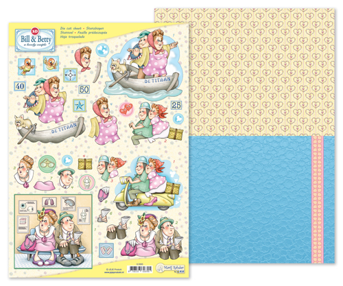 9.0065 MRJ 3D Die cut sheet Bill & Betty + 1 potpourri sheet