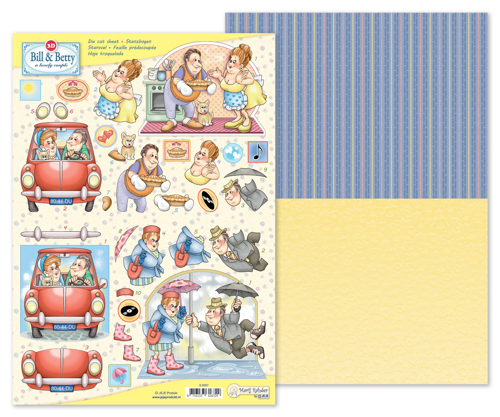 9.0067 MRJ 3D Die cut sheet Bill & Betty + 1 potpourri sheet