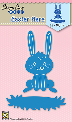 SDB027 Shape Dies blue Easter Hare
