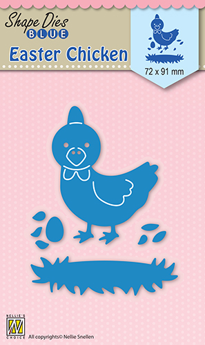 SDB030 Shape Dies blue Easter Chicken
