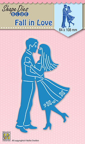 SDB031 Shape Dies blue Fall in love