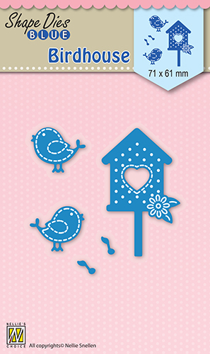 SDB032 Shape Dies blue Birdhouse