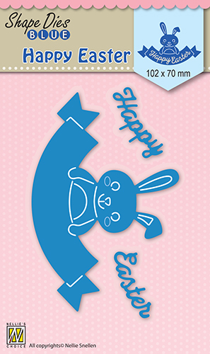 SDB033 Shape Dies blue Happy Easter