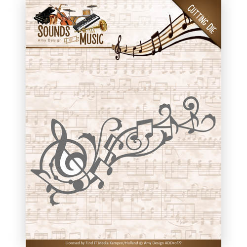 ADD10136 Dies - Amy Design - Sounds of Music - Music Swirl