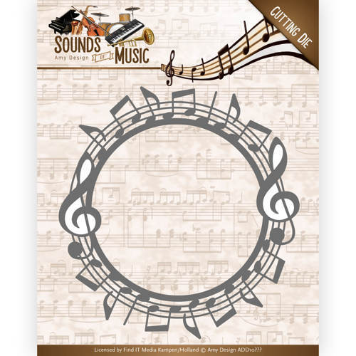ADD10134 Dies - Amy Design - Sounds of Music - Music Border