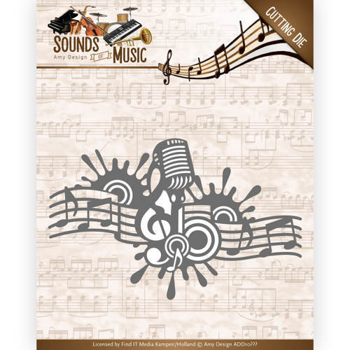 ADD10137 Dies - Amy Design - Sounds of Music - Music Border