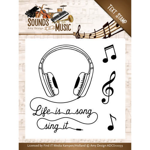 ADCS10039 Clearstamp - Amy Design - Sounds of Music