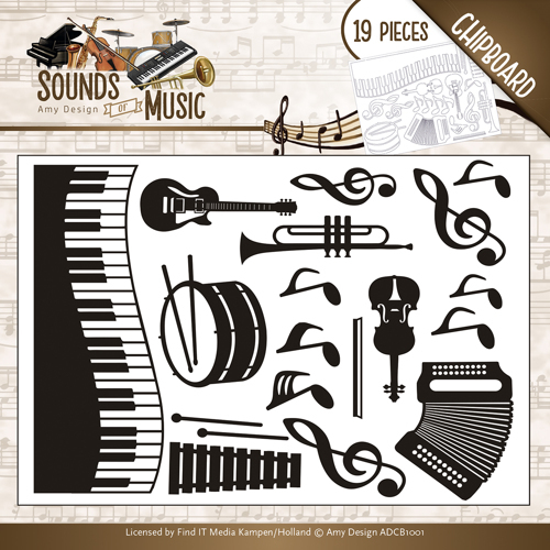 ADCB1001 Amy Design - Chipboard Sounds of Music