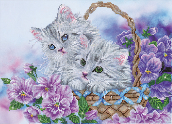 DD10.014 Diamond Dotz® - 52 x 38cm - Kitty Basket