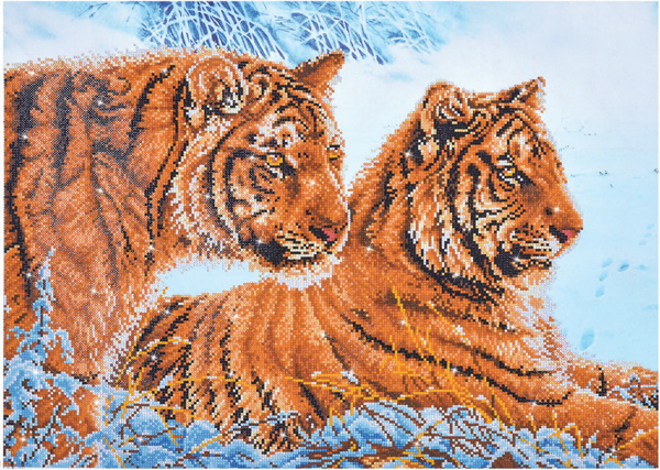 DD12.026 Diamond Dotz® - 71 x 51cm - Tigers in the Snow