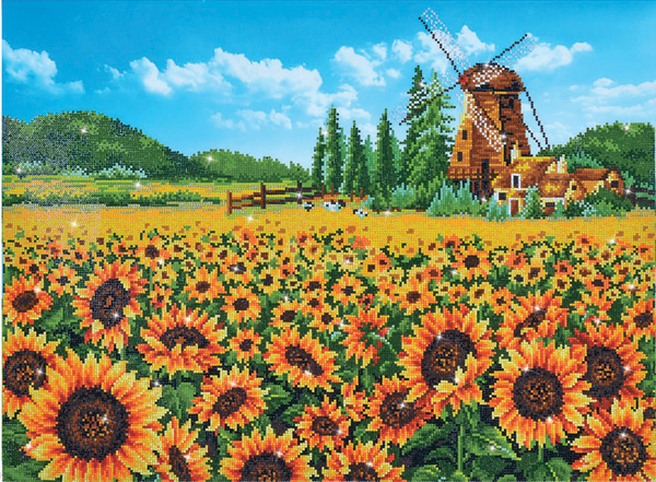 DD13.016 Diamond Dotz® - 76.5 x 57cm - Sunflower Windmill