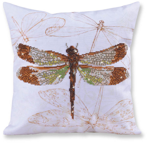 DD16.001 Diamond Dotz® - 44 x 44cm - Pillow - Dragonfly Earth