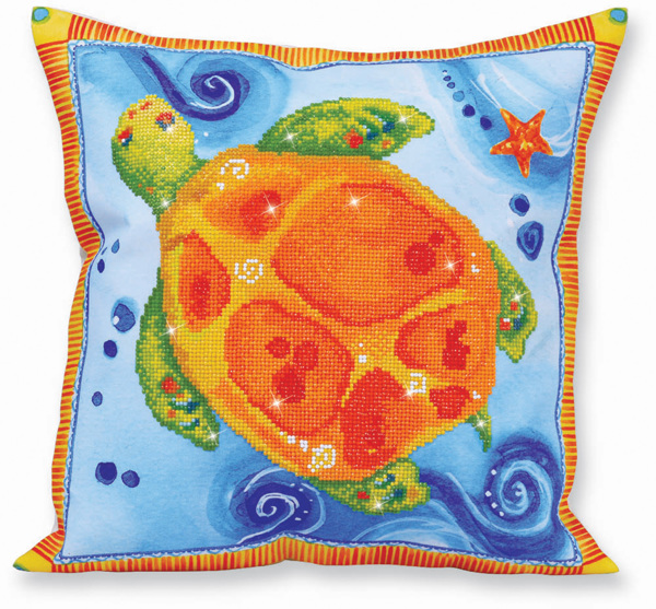 DD16.003 Diamond Dotz - 44 x 44cm - Pillow - Turtle Journey