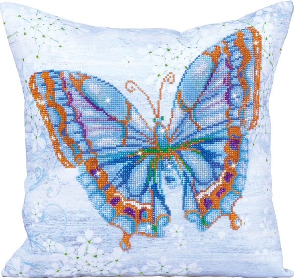 DD16.006 Diamond Dotz® - 44 x 44cm - Pillow - Papillon Bleu