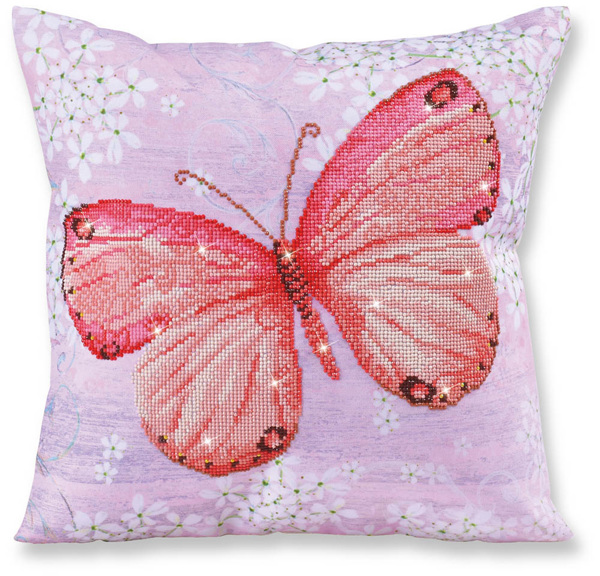 DD16.007 Diamond Dotz® - 44 x 44cm - Pillow - Papillon Abricot