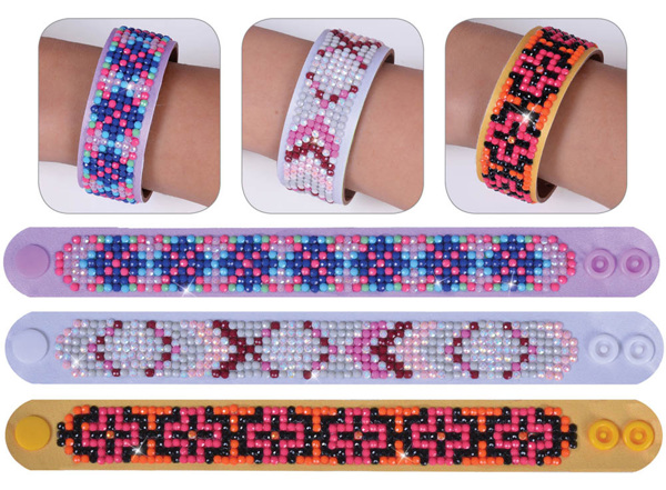 DD30.002 Diamond Dotz - 2.5 x 22.61cm - 3 Bracelets Multi Pack - Geometric