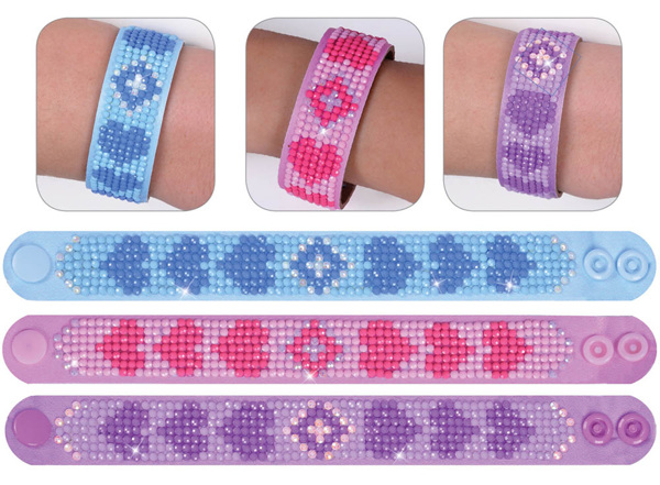 DD30.006 Diamond Dotz - 2.5 x 22.61cm - 3 Bracelets Multi Pack - Love