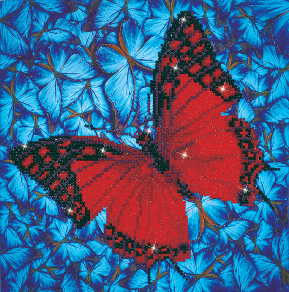 DD5.020 DIAMOND DOTZ® - 30.5x30.5cm - Flutterby Red