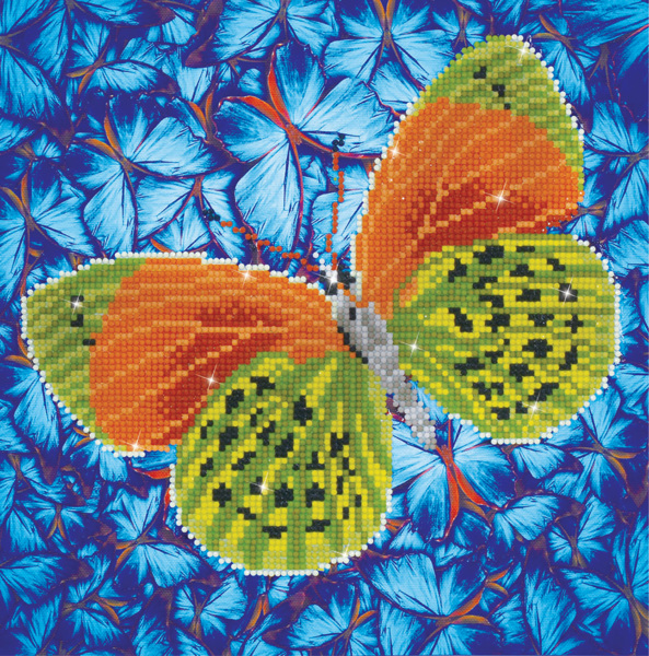 DD5.022 DIAMOND DOTZ® - 30.5x30.5cm - Flutterby Earth