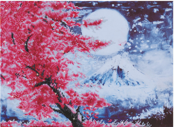 DD9.015 Diamond Dotz® - 52 x 38cm - Cherry Blossom Mountain