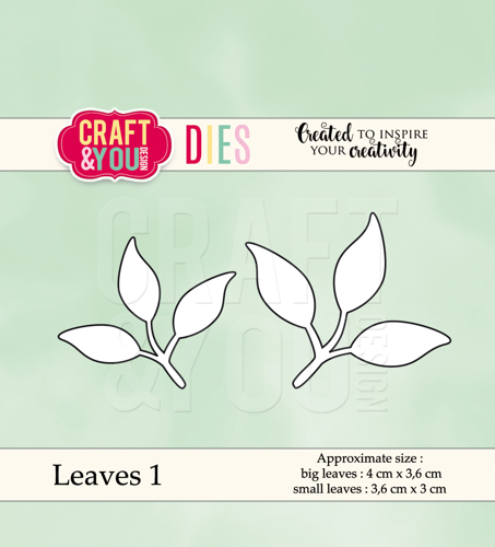 CW038 cutting dies Leaves 1 - 4x3,6cm, 3,6x3cm