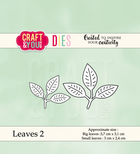 CW039 cutting dies Leaves 2 - 3,7x3,1cm, 3x2,4cm
