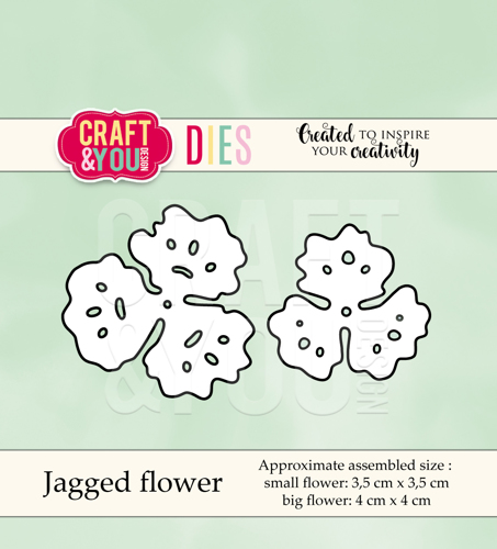 CW040 cutting dies Jagged flower - 3,5x3,5cm, 4x4cm