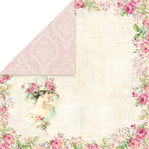 CP-BR01 BELLISSIMA ROSA Scrapbooking single paper 12x12, 200gsm