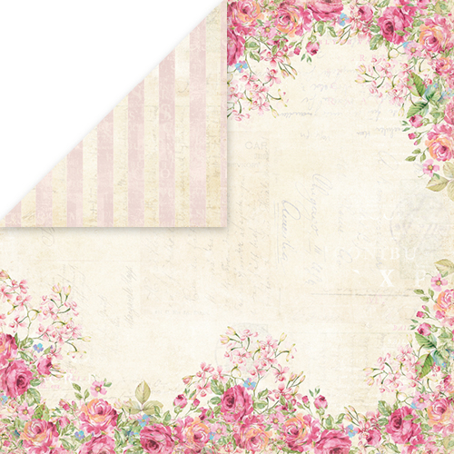 CP-BR03 BELLISSIMA ROSA Scrapbooking single paper 12x12, 200gsm