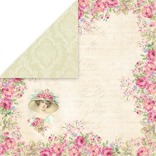 CP-BR04 BELLISSIMA ROSA Scrapbooking single paper 12x12, 200gsm