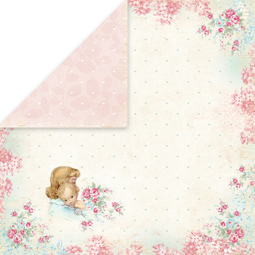 CP-SB01 SHABBY BABY Scrapbooking single paper 12x12, 200gsm