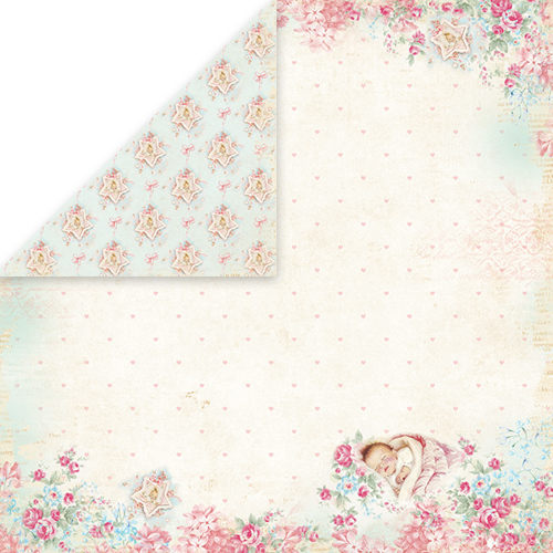 CP-SB02 SHABBY BABY Scrapbooking single paper 12x12, 200gsm