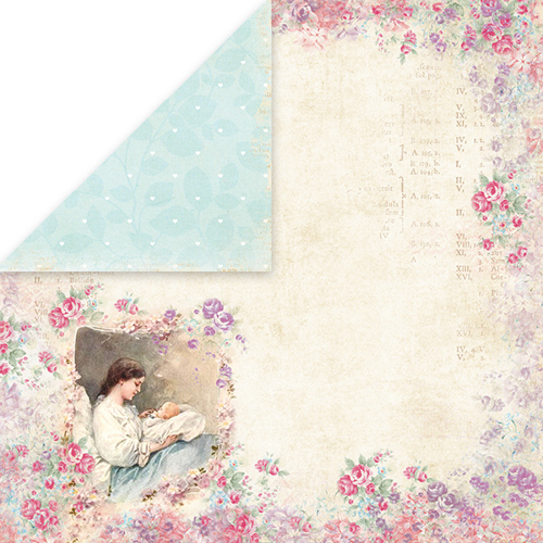 CP-SB04 SHABBY BABY Scrapbooking single paper 12x12, 200gsm