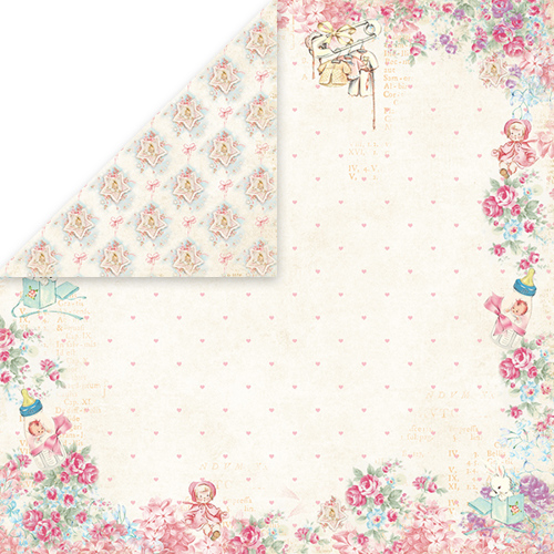 CP-SB05 SHABBY BABY Scrapbooking single paper 12x12, 200gsm