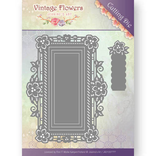 JAD10035 Dies - Jeanine's Art - Vintage Flowers - Floral Rectangle