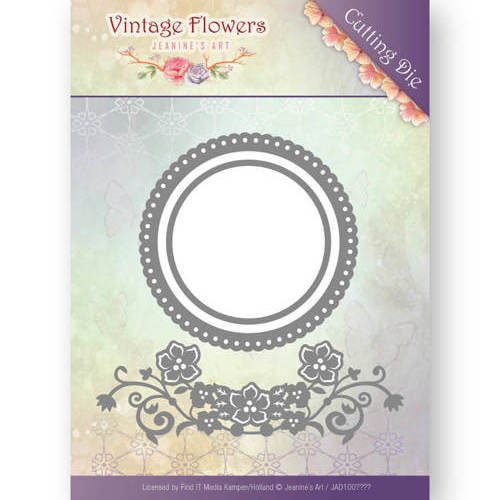JAD10034 Dies - Jeanine's Art - Vintage Flowers - Flowers and Circles