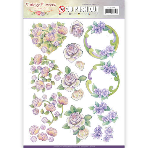 SB10236 Pushout - Jeanine's Art - Vintage Flowers - Romantic Purple
