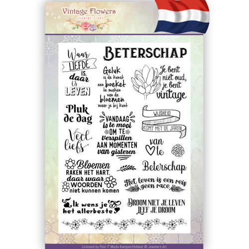 JACS10014 Clearstamp - Jeanine's Art - Vintage Flowers NL