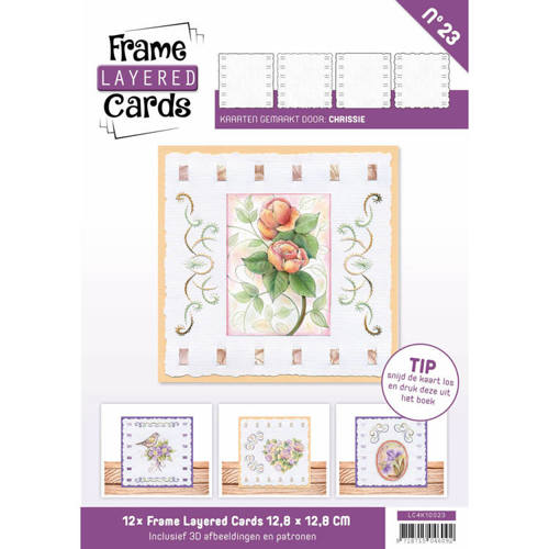 LC4K10023 Frame Layered Cards 23 - 4K Vintage Flowers