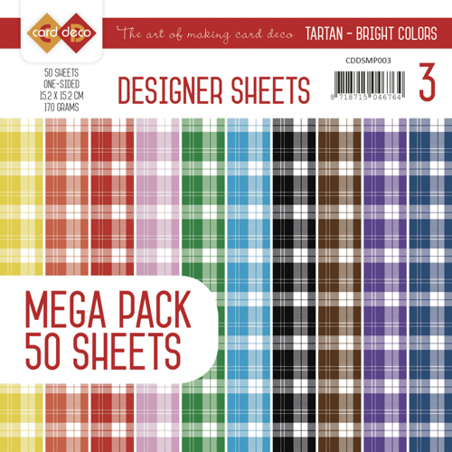 CDDSMP003 Designer Sheets Mega Pack 3 - Tartan - Bright Colors