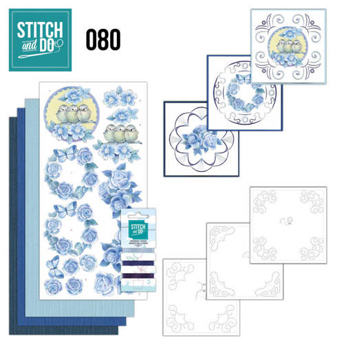 STDO080 Stitch and Do 80 - Vintage Bloemen
