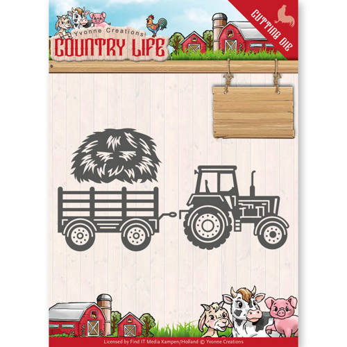 YCD10124 Dies - Yvonne Creations - Country Life Tractor