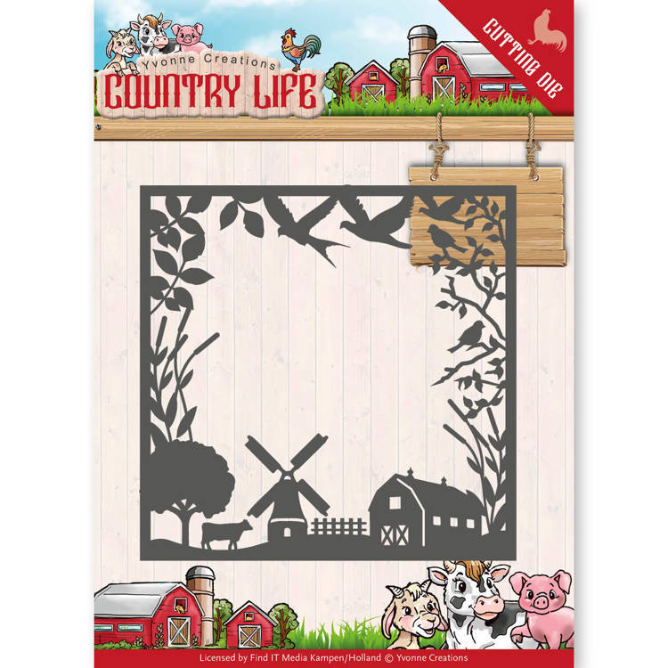 YCD10123 Dies - Yvonne Creations - Country Life Country Life Frame