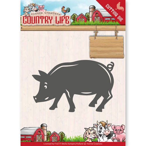 YCD10130 Dies - Yvonne Creations - Country Life Pig