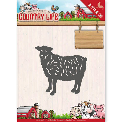 YCD10129 Dies - Yvonne Creations - Country Life Sheep