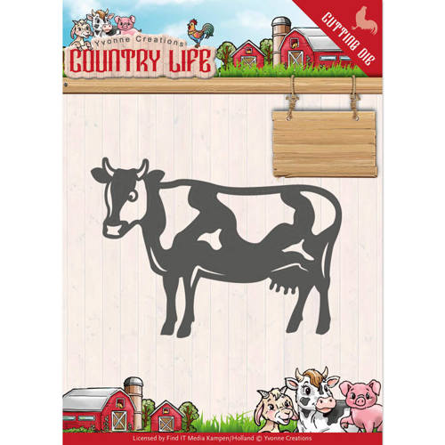 YCD10128 Dies - Yvonne Creations - Country Life Cow